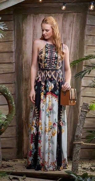 Vestido Tropical de Inverno