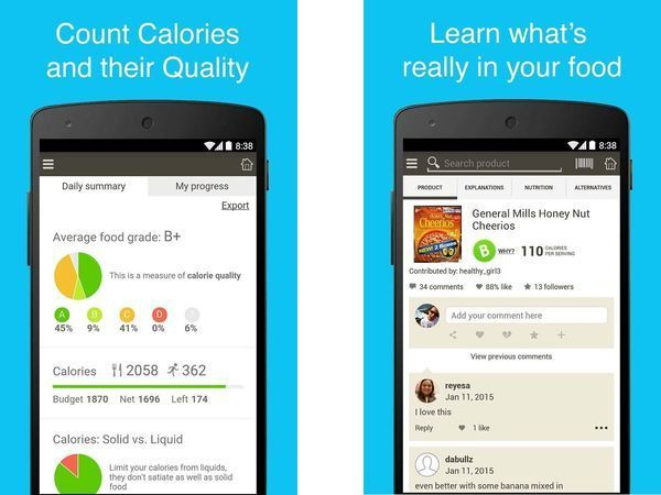 Make sense of ingredients. Check out these excellent diet and nutrition trackers