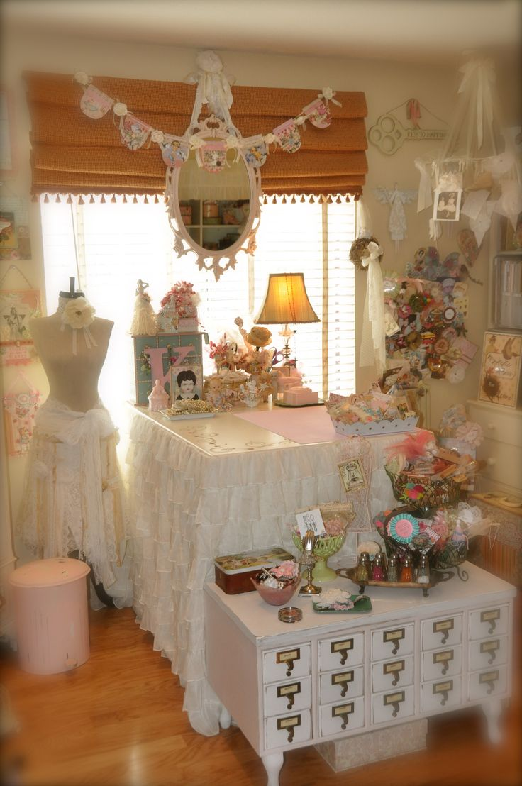 Craftroom my room pinterest the old take that and for Shabby chic craft room