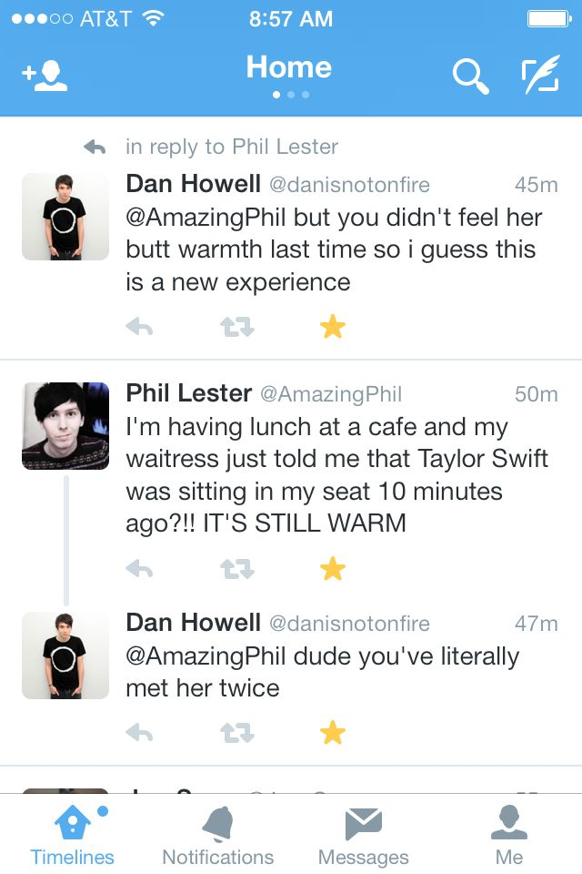 Dan and Phil. I love how they live together but still Tweet back and forth