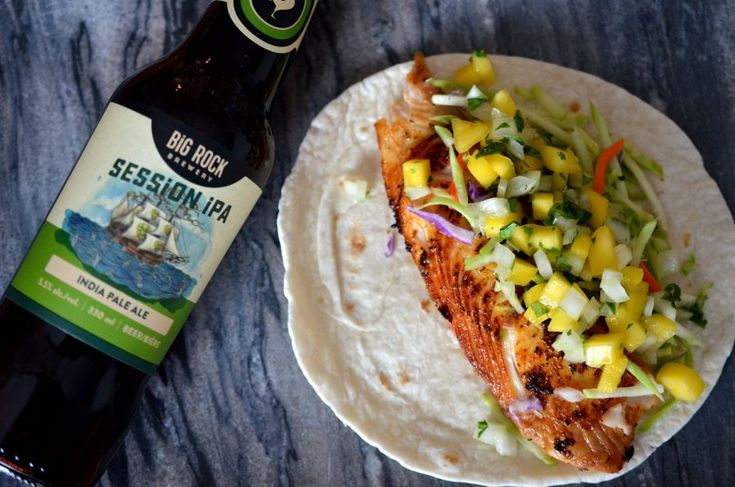 [ Marinated Fish Tacos Recipe ]  Fish tacos are a summer favourite and an easy dish to make for friends. #fishtacos #cookingwithbeer #lunch #lightmeal