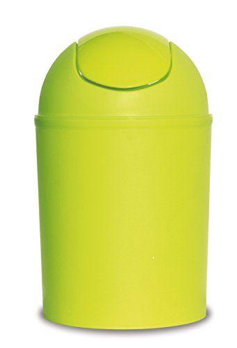 Wohnideenshop Schwingdeckeleimer 5 Liter gr�n 30cm hoch �19cm Kunststoff und in anderen Farben zur Auswahl