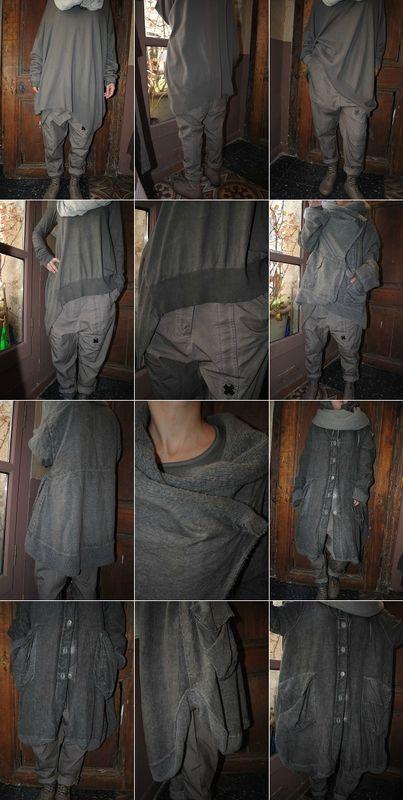LES COULEURS DE L'AUTOMNE : pull en maille, sarouel, tee-shirt, echarpe RUNDHOLZ, veste et manteau GRIZAS,