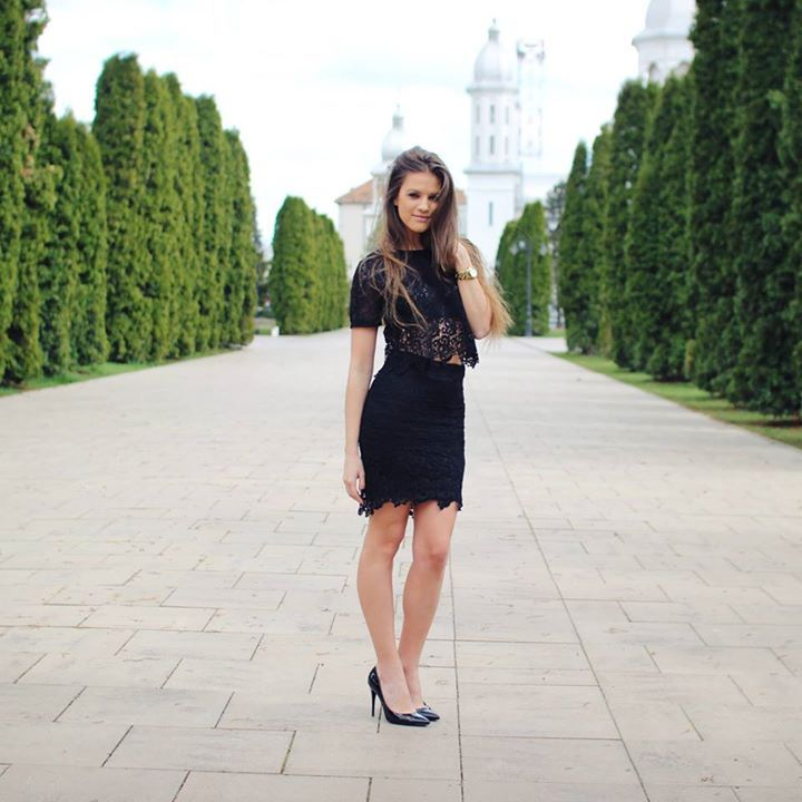 Black Lace Suit- fabulous for spring. Available at www.famevogue.ro  #lace #suit #fashion #style #shopping #famevogue