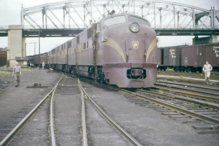 Prr E7a 5860 In Wilkes Barre June 12th 1955 Train Stuff