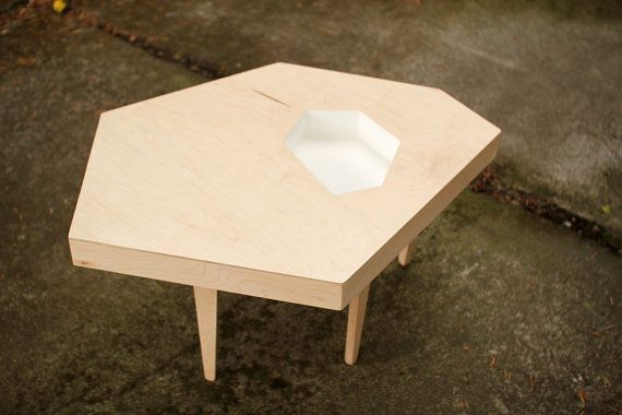 Modern Coffee Table Maple Plywood 35 x 27 x 17 by MichaelArras, $299.00