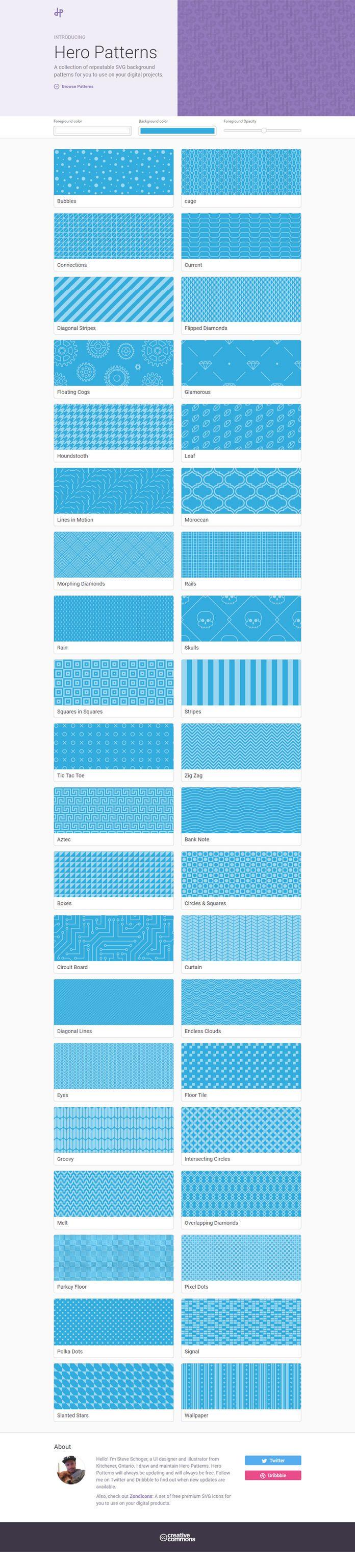 Générez vos backgrounds en SVG facilement et gratuitement avec Hero Patterns | BlogDuWebdesign