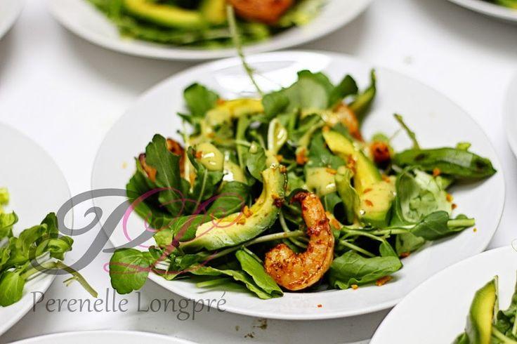 ensalada verde con camarones salteados en oliva perenelle longpré: Google+
