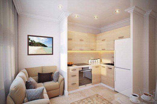 кухня-гостинная 14м