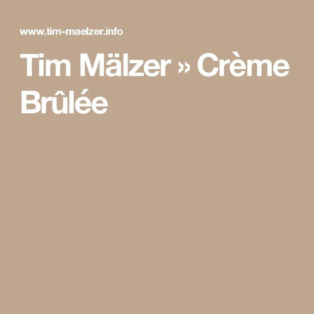 Tim Mälzer » Crème Brûlée