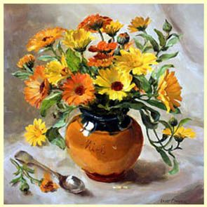 Anne Cotterill › ''Marigolds in a Honey Jar''