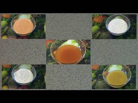 Five salad dressings video in 1 minute.