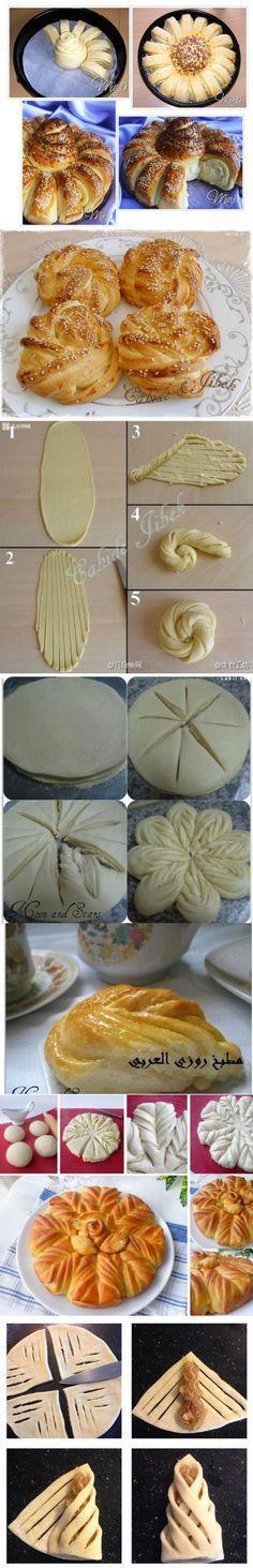 Как сделать красивые булочки: новая подборка креативной разделки теста   Четыре вкуса
