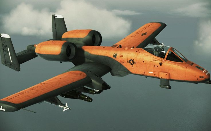 Fighting Planes | orange fighter plane side