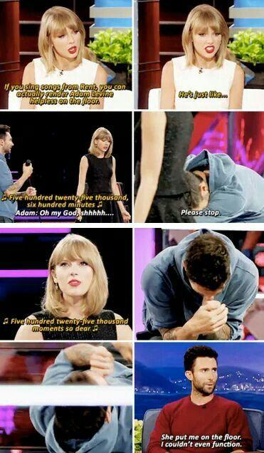 Adam Levine hates show tunes. Lol