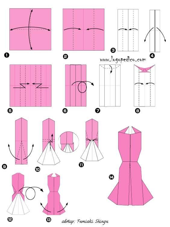 Как создавать платье на бумаге