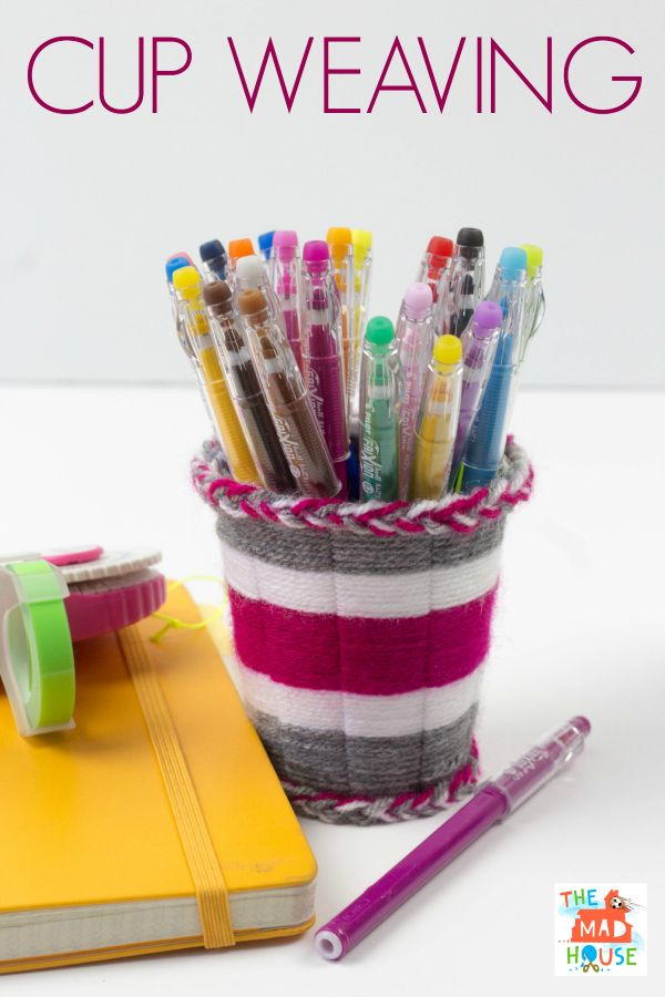 Cup weaving tutorial yarns for kids and tutorials - Cups and kids ...