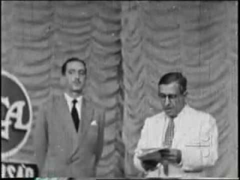RARÍSSIMO - INAUGURAÇÃO TV TUPI - 1950
