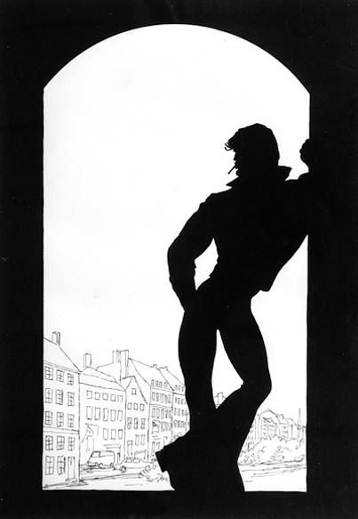 TOM OF FINLAND (Touko Laaksonen, Finnish, 1920 – 1991), Untitled (Silhouette series), 1971, Pen and ink on paper, Tom of Finland Foundation Permanent Collection, © 1971 Tom of Finland Foundation. Via Facebook.
