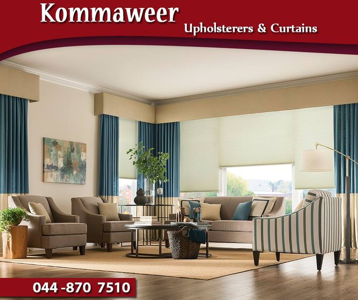 A custom-made curtain is a beautiful addition to frame your window. At #KommaweerUpholsterers, you can find custom curtains, made to your exact specifications. Contact us on 044 870 7510. #curtains