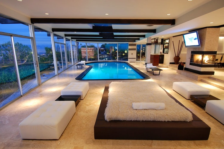 Best Indoor Pool House Ever By Miguel Rueda Design Bling Estates Pinterest Pool Houses