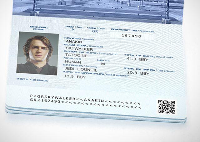 Custom Galactic Republic Passport
