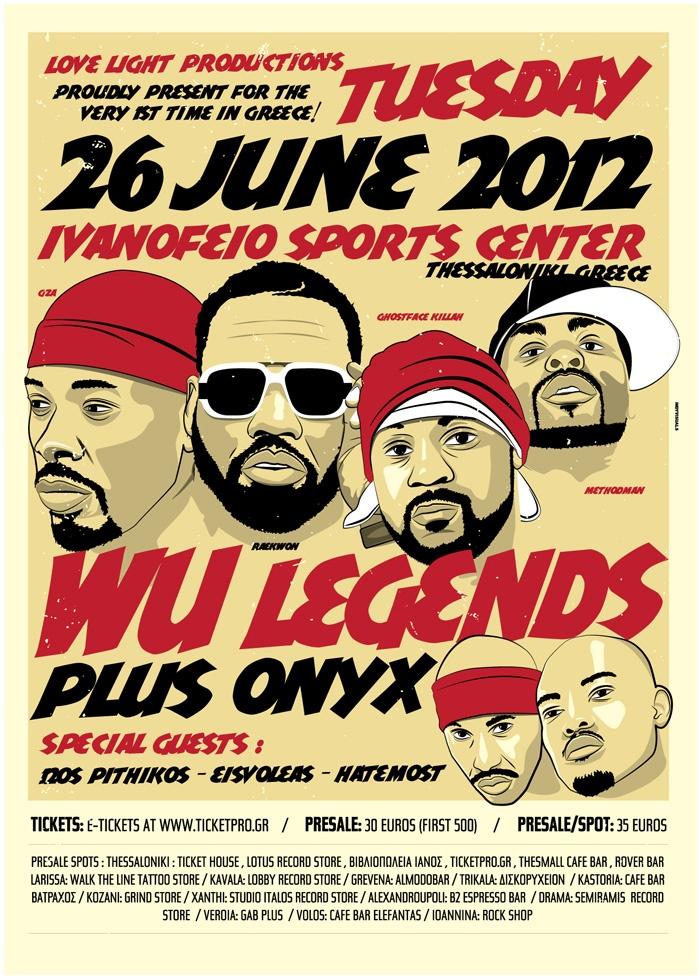 Wu Tang Legends + Onyx Live Salonica