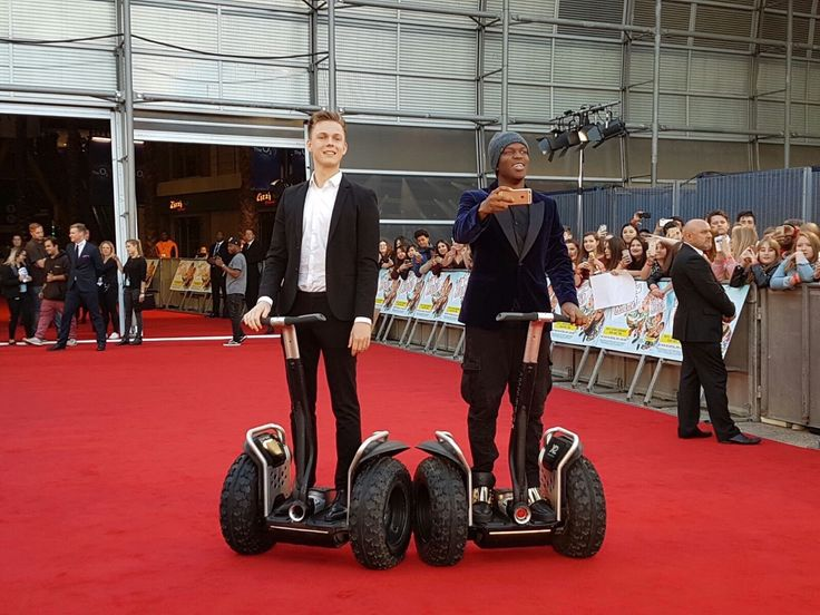 Caspar & JJ on segways at their Premiere