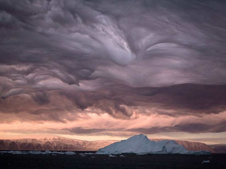 See a photo of stratus clouds over Inglefield Bay in Greenland, from National Geographic.