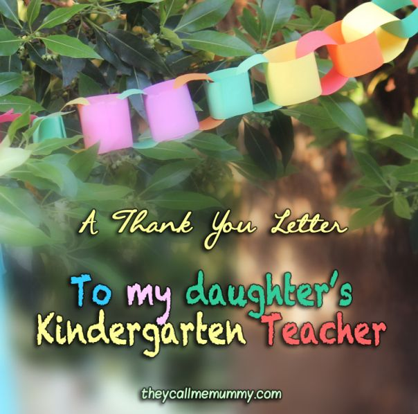 A Thank You Letter to my Child's #Kindergarten #Teacher # ...