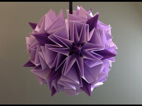 Daily Origami: 834 - Allium Flower Ball Kusudama