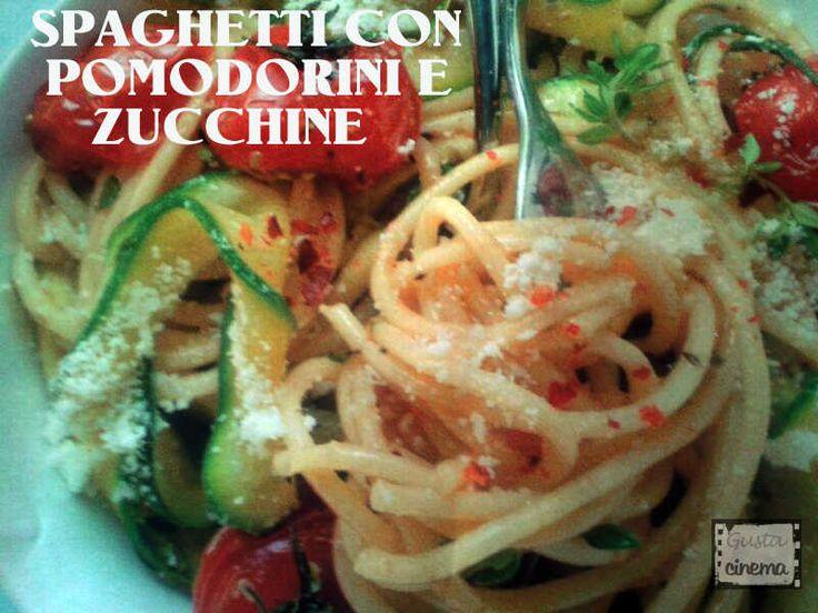Spaghetti con pomodorini e zucchine