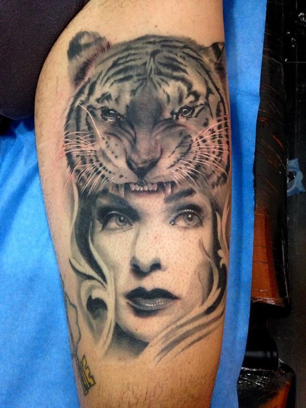best 25 tiger stripe tattoo ideas on pinterest mermaid thigh tattoo ripped skin tattoo and. Black Bedroom Furniture Sets. Home Design Ideas