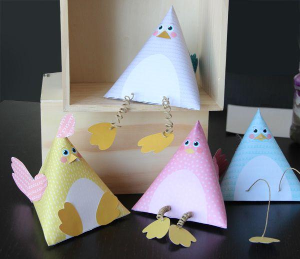 Créer et customiser des poules berlingots pour #Paques