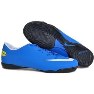 http://www.asneakers4u.com The Newest  Wholesale Nike Mercurial Victory III IC Indoor Football Trainers Soccer Cleats blue/white
