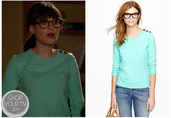 Shop Your Tv: New Girl: Season 2 Episode 10 Jess Green Button Sweater