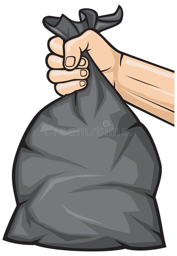Hand Holding Garbage Bag Hand Holding Black Plastic Trash Bag Affiliate Garbage Holding Hand Bag Trash Bag Illustration Illustration Garbage Bag