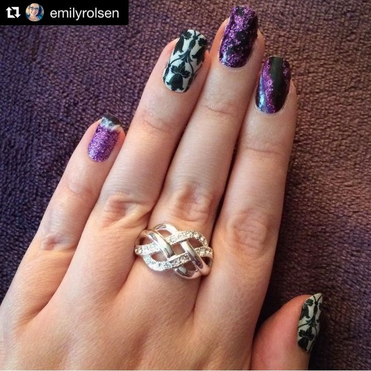 "EmilyRolsen on Instagram with a fun Nerd Manicure combo using our ""Baker Street"" and ""Amethyst"" nail wraps! #EspionageCosmetics #NerdManicure #Nails #NailArt #Amethyst #BakerStreet #Sherlock #Nalspiration #NOTD #NailWraps"