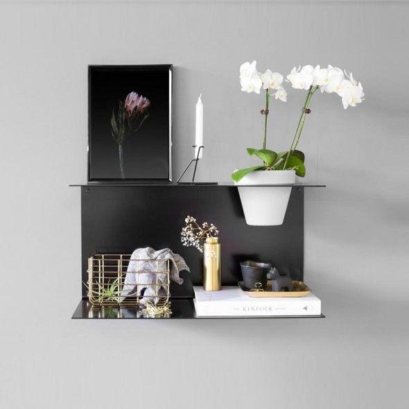 Large Black Fold Shelf