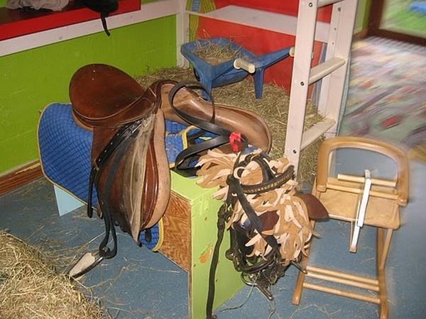 Huishoek: hoek paardenstal