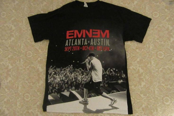 #Eminem 2014 #ConcertTour #Austin #Texas #Atlanta #Georgia Black T-Shirt Medium