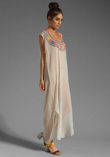 MARA HOFFMAN Beaded Chiffon Dashiki Maxi Dress - /gypsystitches/hippie-gypsy-boho-decor/ 12,000? BACK