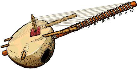 KORA  La kora es un instrumento generalmente de 20 o 21 cuerdas, mezcla de arpa y de laúd de África occidental. La kora se construye a partir de una calabaza grande cortada a la mitad, con una cubierta de cuero para lograr la caja de resonancia a lo que se le agrega un puente con muescas para transmitir la vibración de las cuerdas sujetas al mástil. El sonido de la kora recuerda el del arpa, aunque cuando se toca de forma tradicional, se asemeja más al estilo de las guitarras flamencas. El…