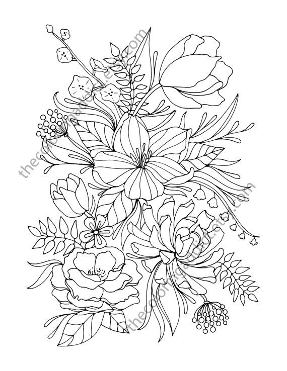 114 best Adult Coloring Pages images on Pinterest | Adult children ...