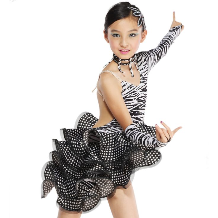 latin dance costume | Latin dance skirt dress clothes zebra print Latin dance costume fy064 ...