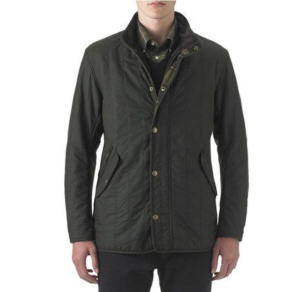BARBOUR LIFESTYLE From the Classic Tartan capsule Edderton Waxed Jacket Distinctive and stylish, the Edderton is a lightweight men's waxed jacket in Barbour's Sylkoil waxed cotton, with a unique vertical quilting detail.