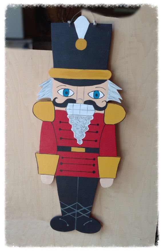 Christmas nutcracker door hanger christmas by Furnitureflipalabama, $35.00