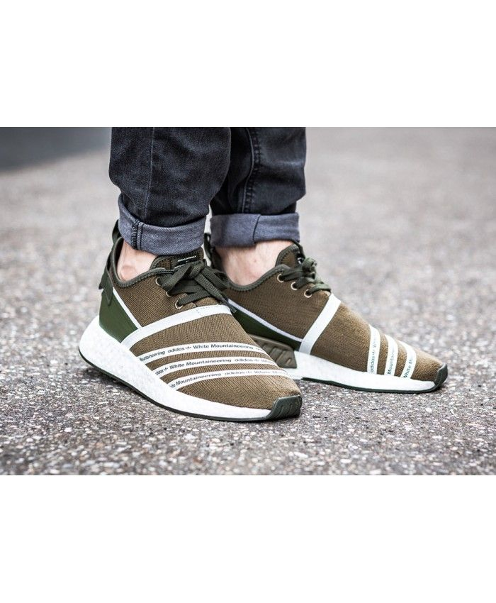 White Mountaineering Adidas NMD R2 Khaki Sale UK  de815e5b0