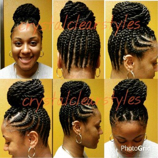 Feed Braid Senegalese Twist Up Do Hairstyles Braids