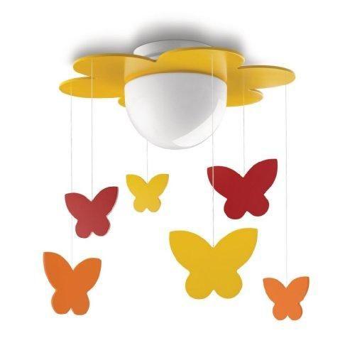 Oferta: 37.53€ Dto: -34%. Comprar Ofertas de Philips myKidsRoom Meria - Plafón, iluminación interior, casquillo E27, vidrio, color amarillo barato. ¡Mira las ofertas!